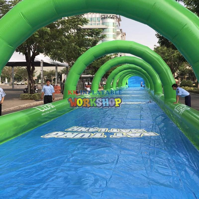 slide pool combination inflatable water parks pvc for seaside KK INFLATABLE