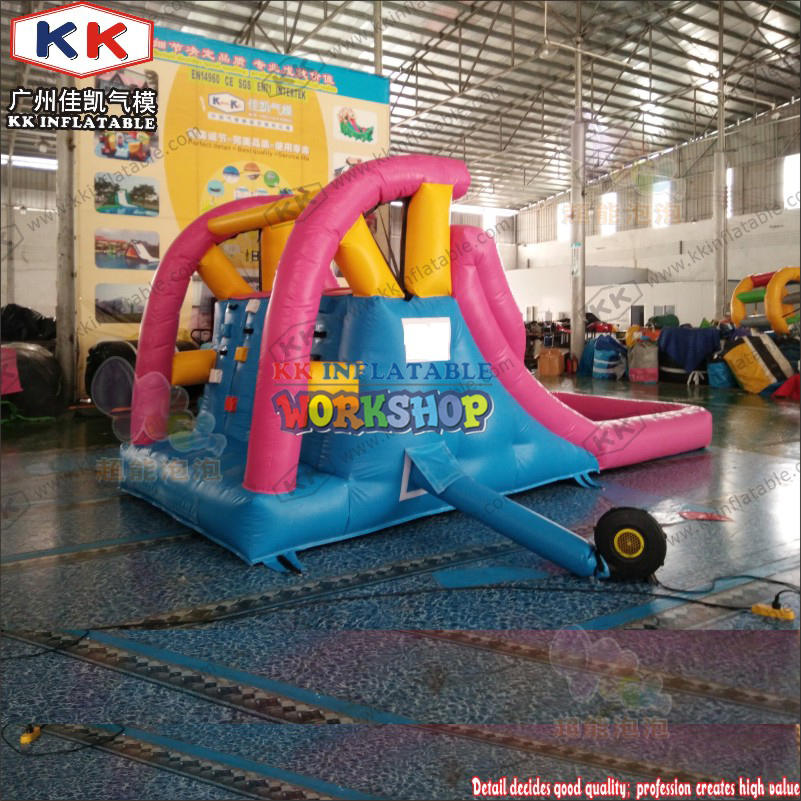 Small inflatable children's water slide