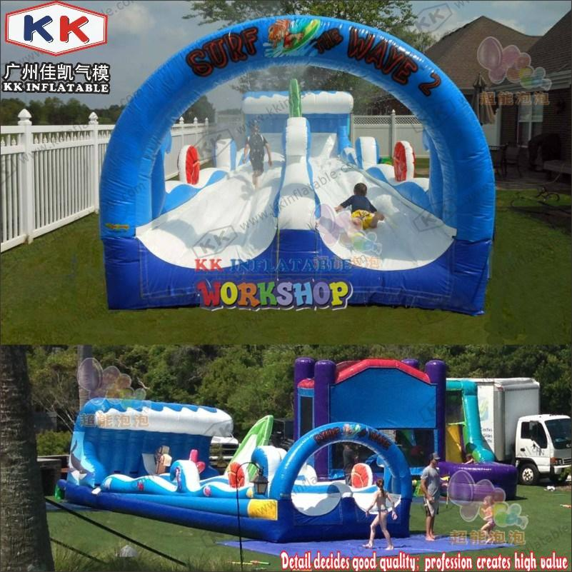 KK INFLATABLE multichannel inflatable water parks manufacturer for beach