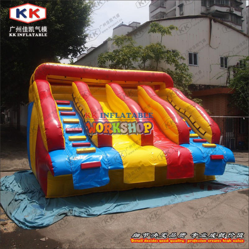 Classic inflatable water park water slide for frame pool use