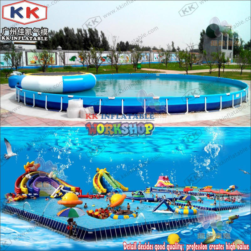 Commercial Metal Frame Steel Removable Swimming Pool Above Ground Water Park Pool swimming training pool