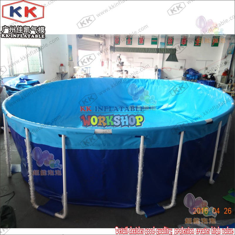 Durable Round Metal Framed Swimming Pools Steel Frame Pool
