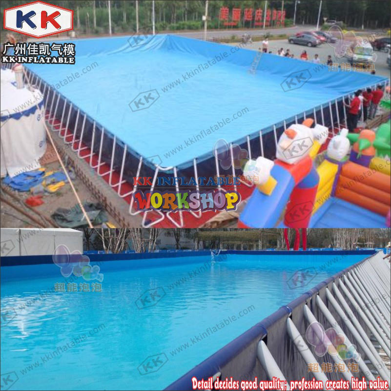 Durable Round Metal Framed Swimming Pools Steel Frame Pool