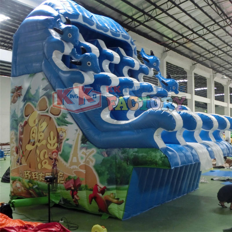 Wear-resistant PVC inflatable water slide