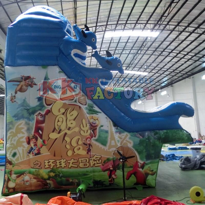 slide pool combination inflatable water parks animal modelling for beach KK INFLATABLE