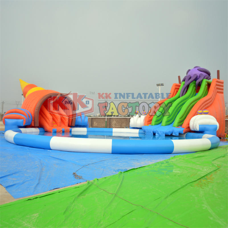 Underwater World Seaworld Octopus outdoor giants inflatable Water Park/ aqua park for kids and adults