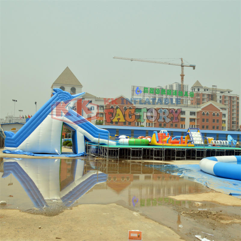 Pool inflatable slide joy park