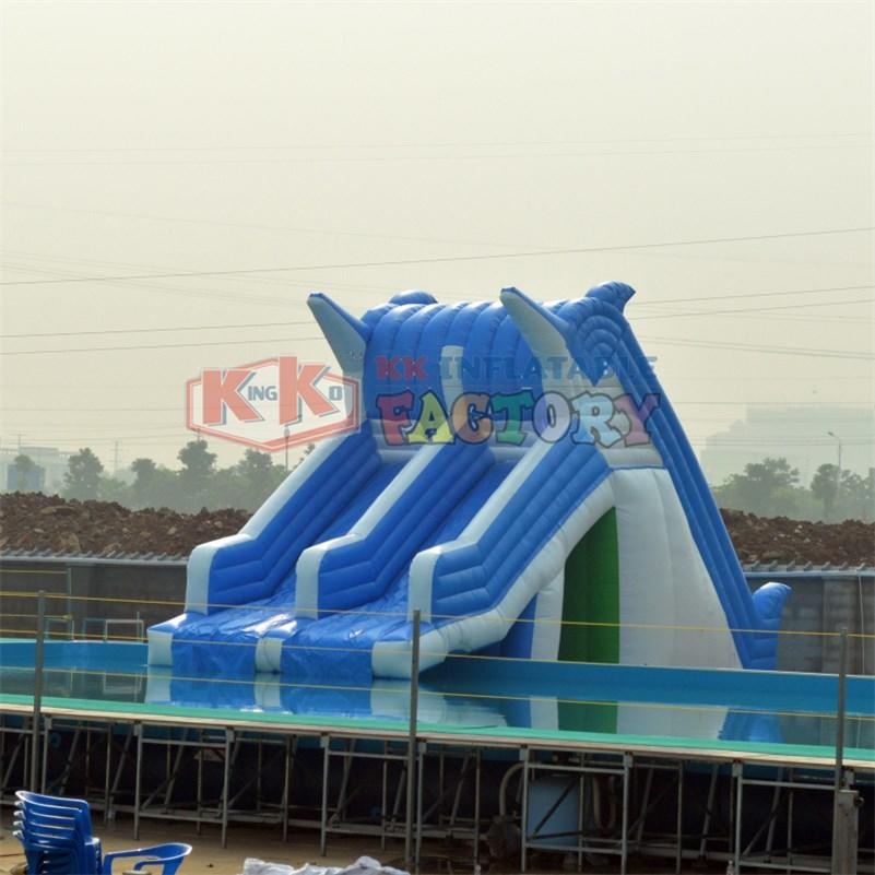 KK INFLATABLE slide pool combination inflatable water parks manufacturer for paradise