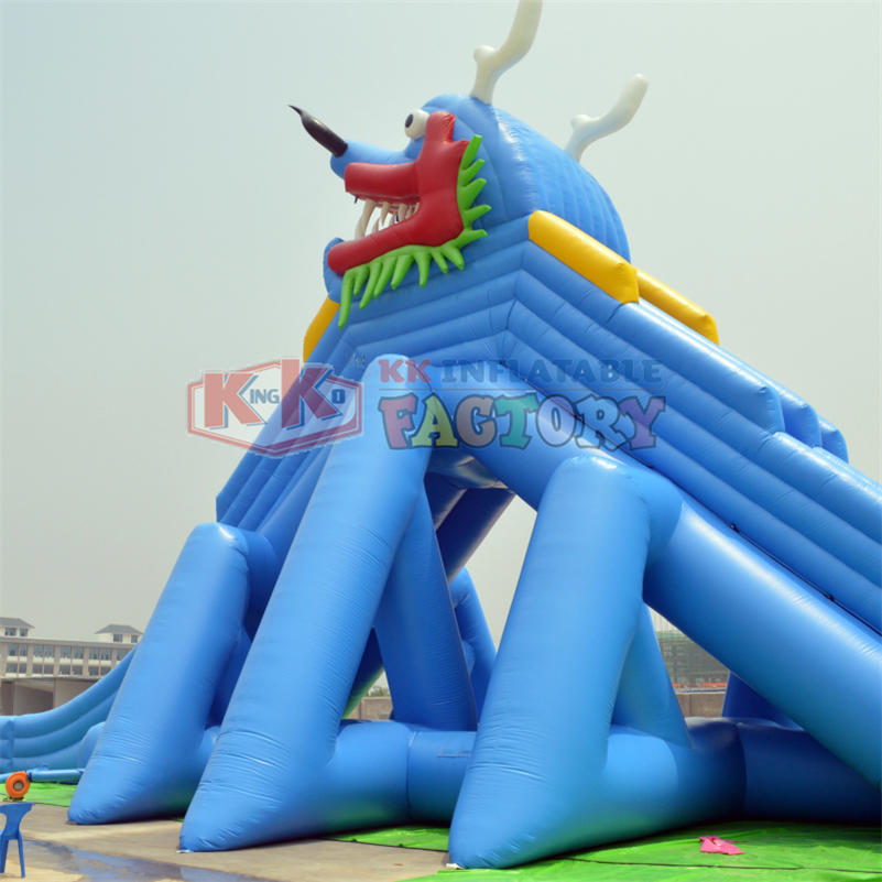 Inflatable Chinese dragon modeling water slide