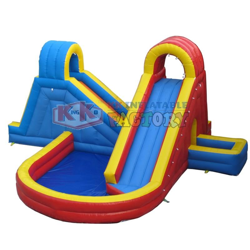 kids inflatable water park blue for beach KK INFLATABLE