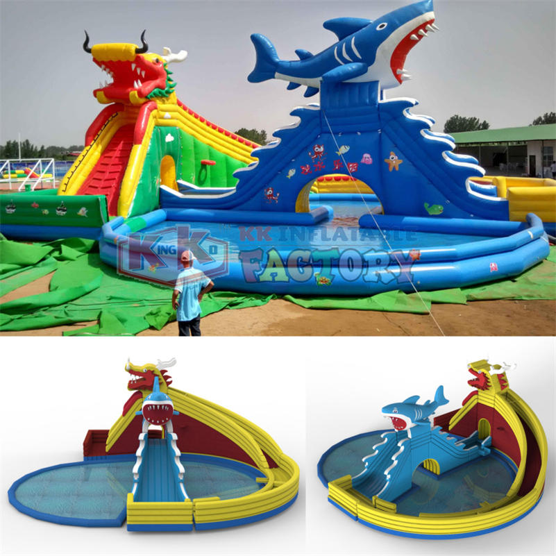 Inflatable slide pool combination for sale