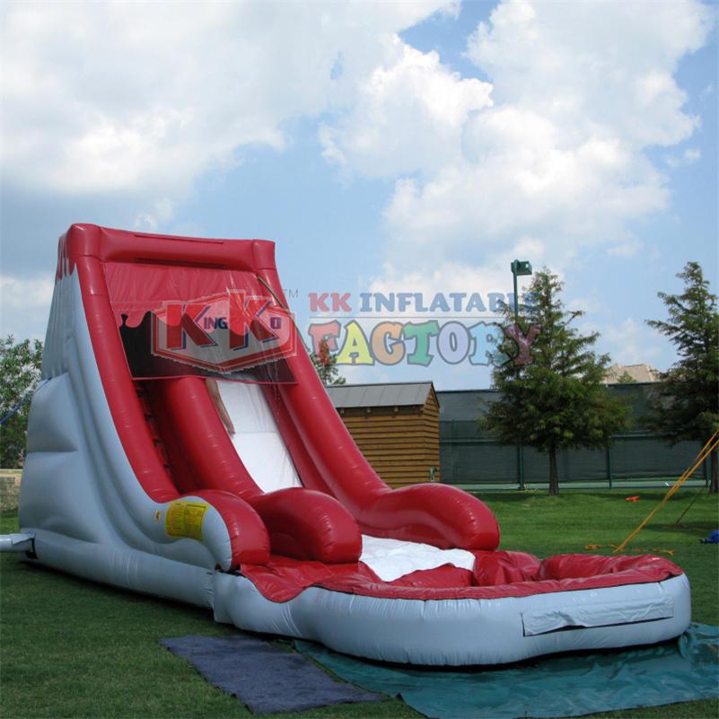 Children's water park inflatable slide