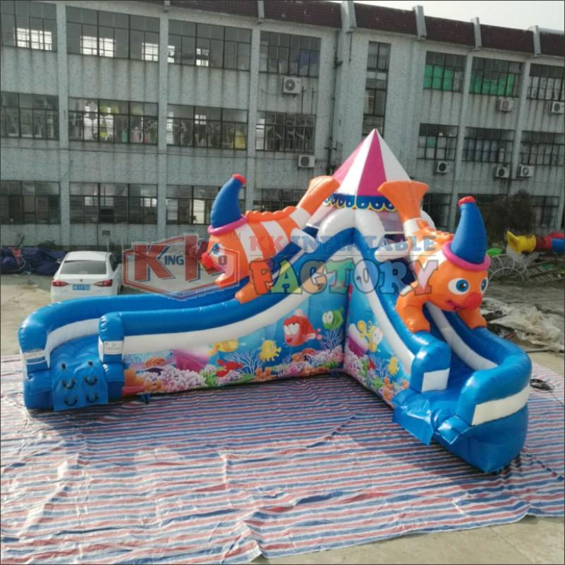 Children's water park inflatable slide