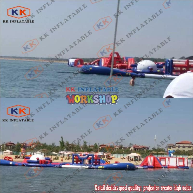 large kids inflatable water park manufacturer for paradise