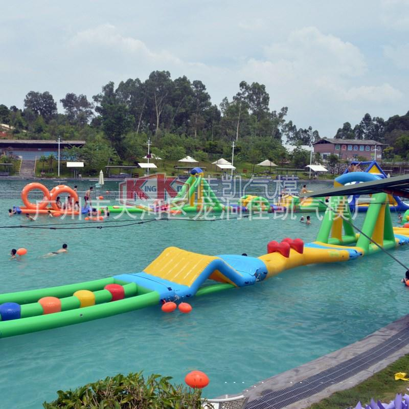 slide pool combination inflatable water playground manufacturer for paradise KK INFLATABLE