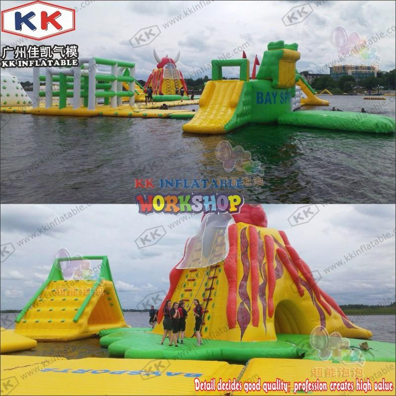 KK INFLATABLE blue inflatable water parks good quality for amusement park