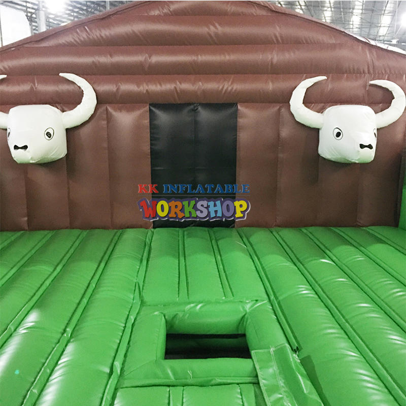 Riding a bull racing game