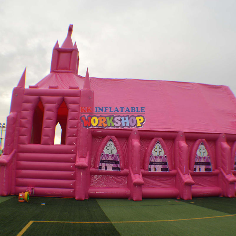Inflatable pink church custom