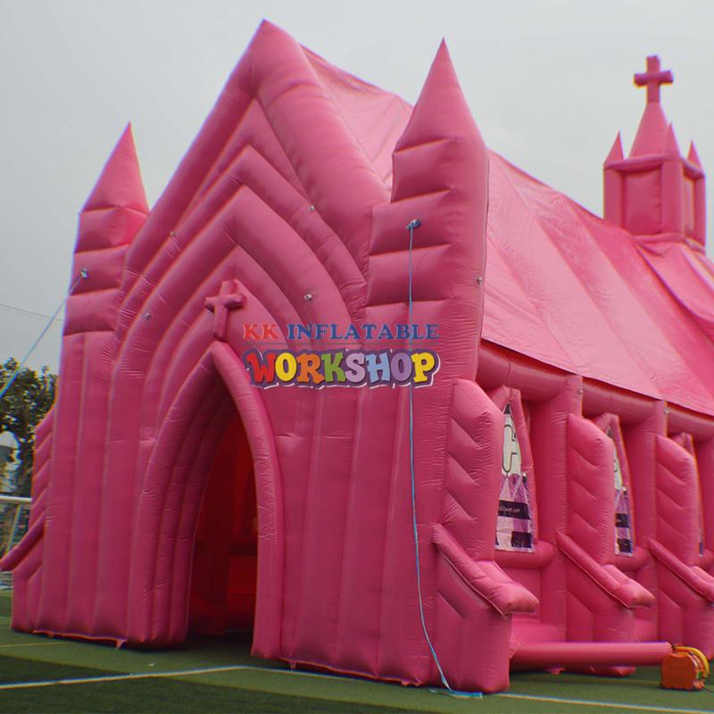 Inflatable pink church custom