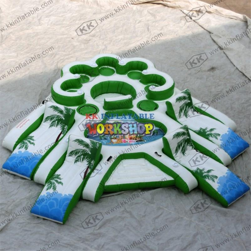 cartoon inflatable water parks blue for paradise KK INFLATABLE