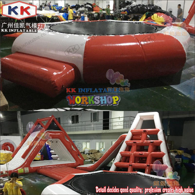 Water land inflatable trampoline