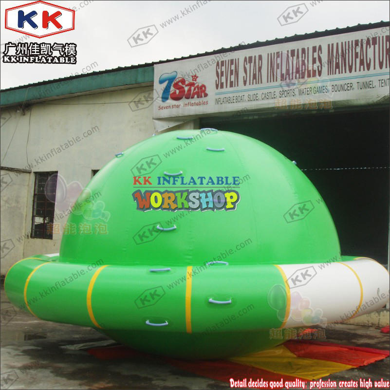 Floating inflatable toy on water