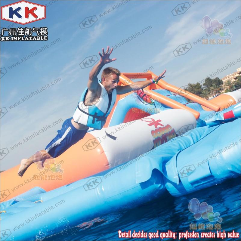 cartoon inflatable water playground pvc for seaside KK INFLATABLE