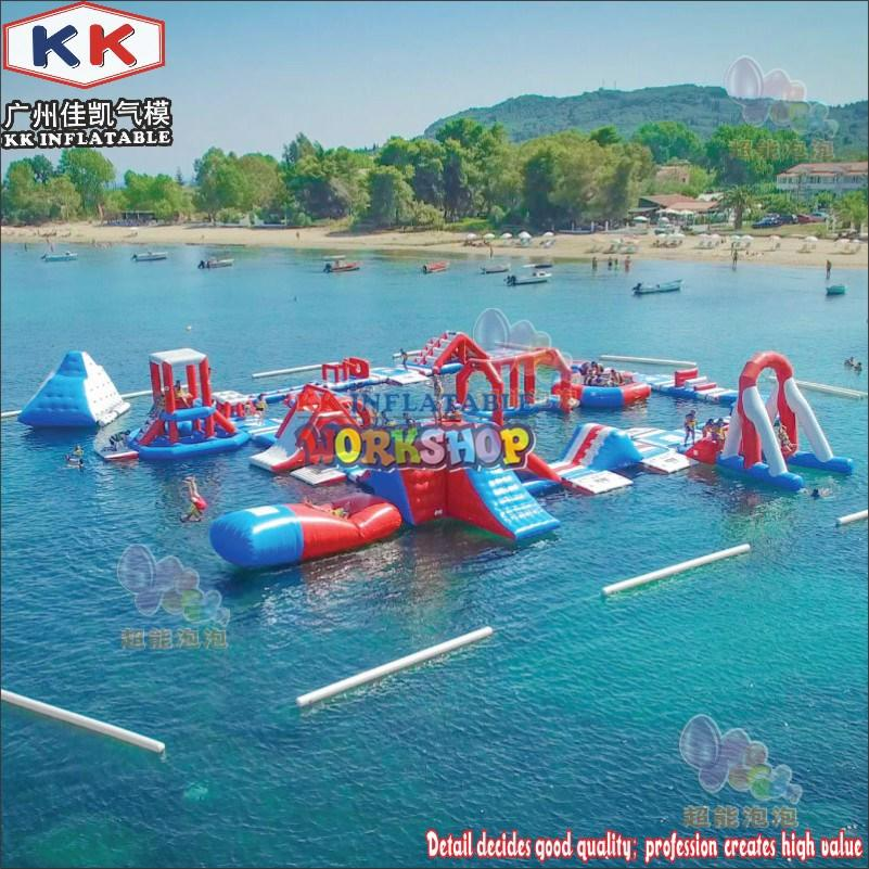 custom inflatable water playground good quality for seaside