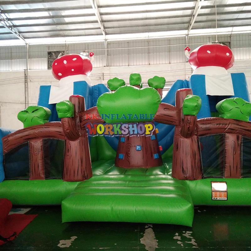 inflatable dry playground