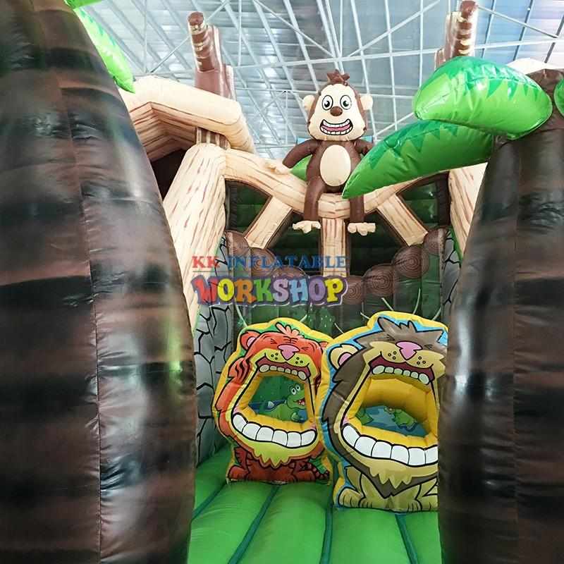 large slide pool indoor inflatables supplier for party KK INFLATABLE