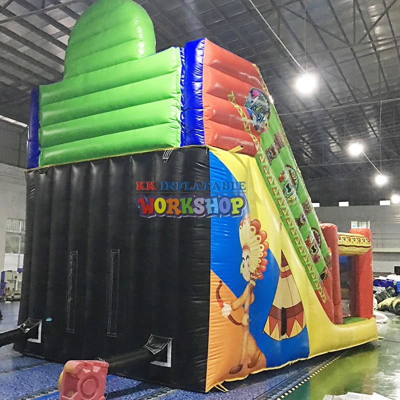castle combo inflatable obstacle