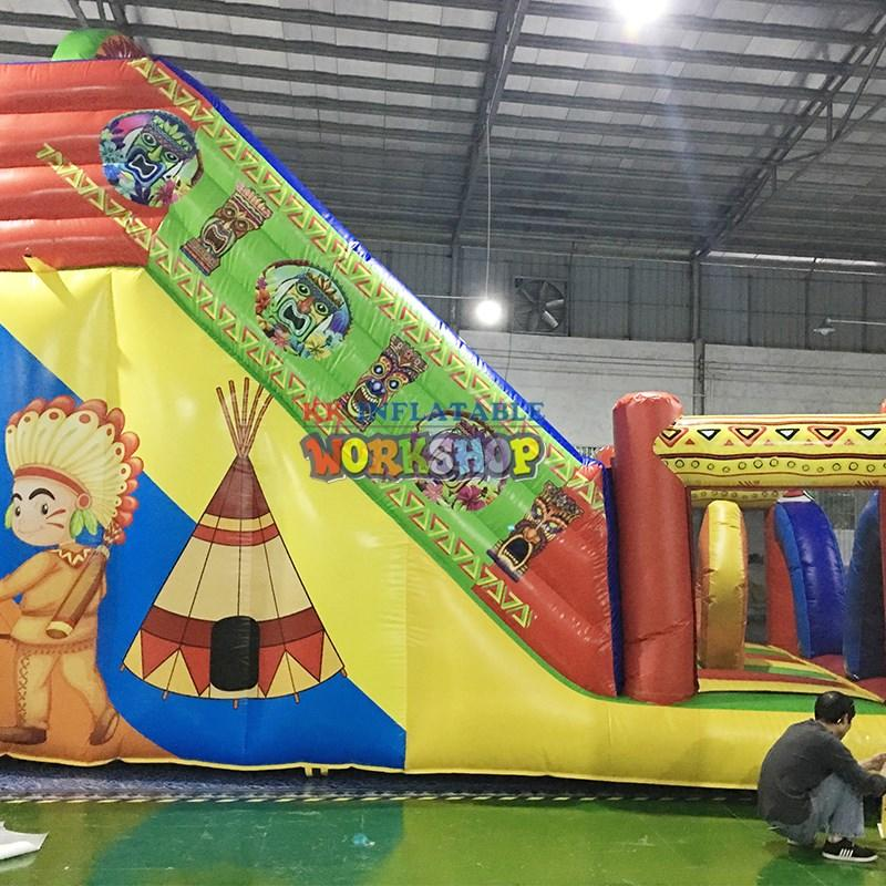 KK INFLATABLE funny bouncy castle obstacle course cartoon for racing game