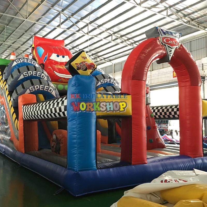 trampolines inflatable play center manufacturer for playground KK INFLATABLE