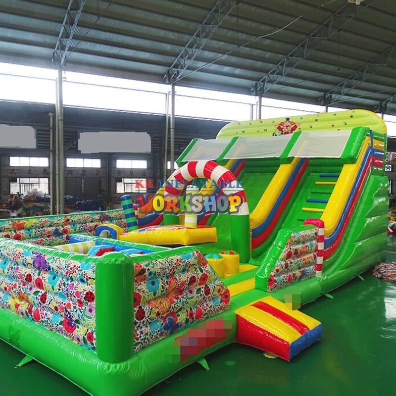 trampoline party jumpers pvc for amusement park KK INFLATABLE