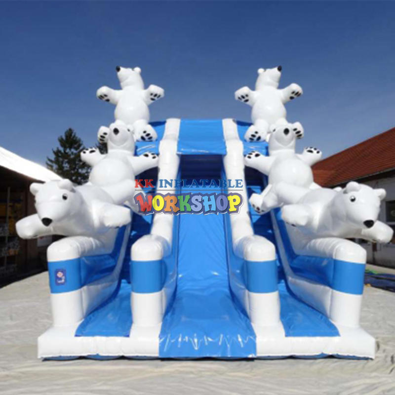 Polar bear inflatable slide
