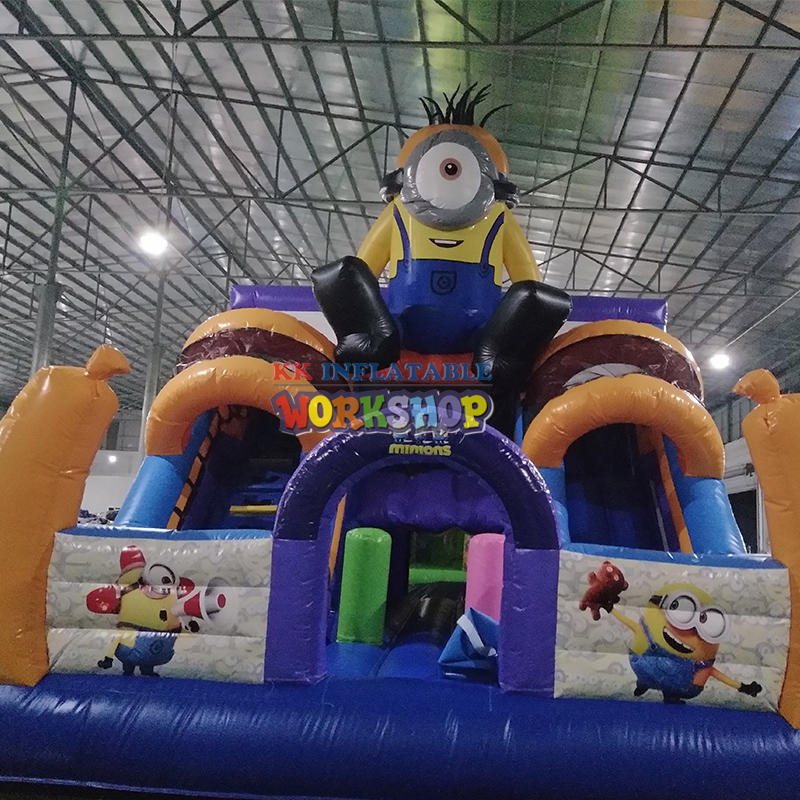 Inflatable small slide
