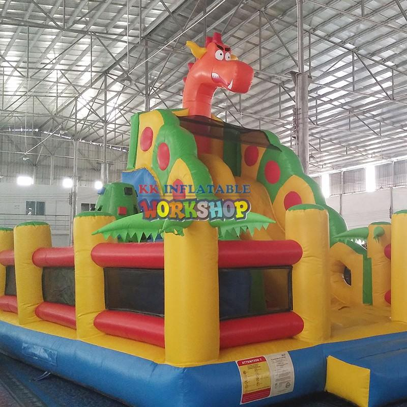 transparent pig inflatable slide colorful for exhibition