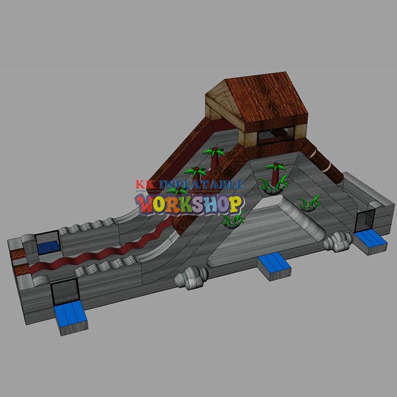 KK INFLATABLE jump bed big water slides manufacturer for exhibition