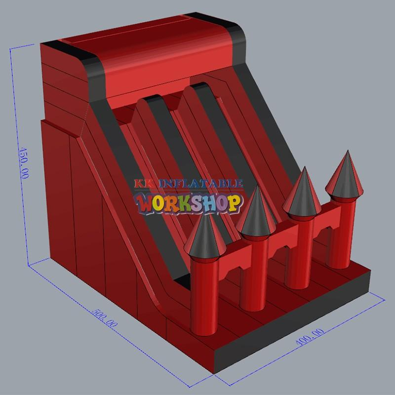 truck water slides for kids manufacturer for playground KK INFLATABLE