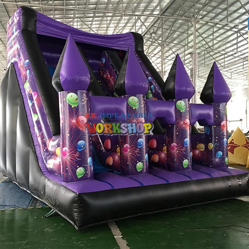 inflatable dry slide kids castle