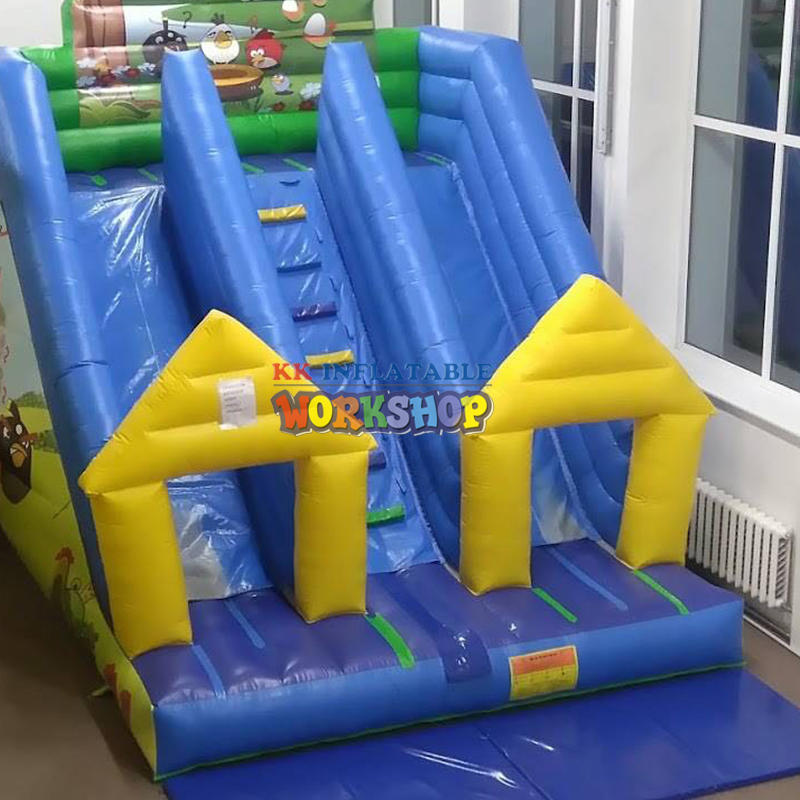 double lane inflatable dry slide