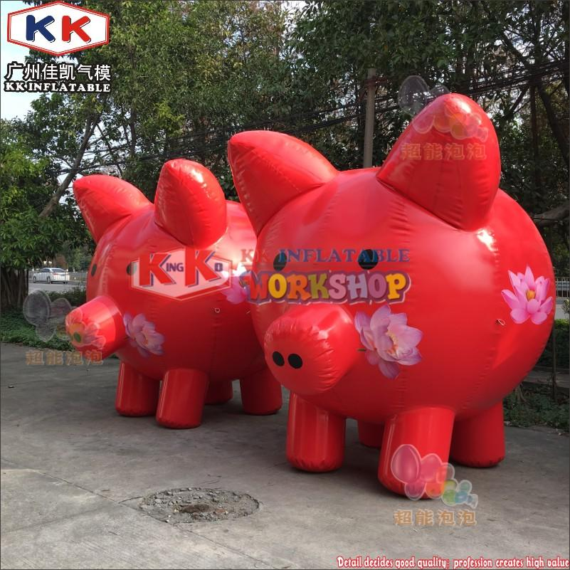 Inflatable Pig  Model for Advertising