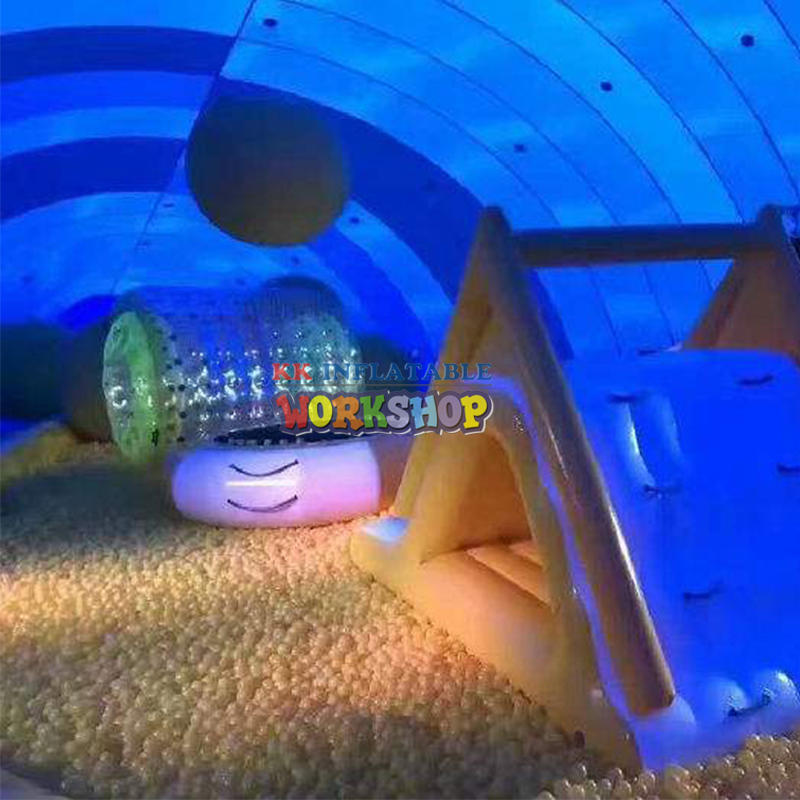 Children's trampoline whale castle
