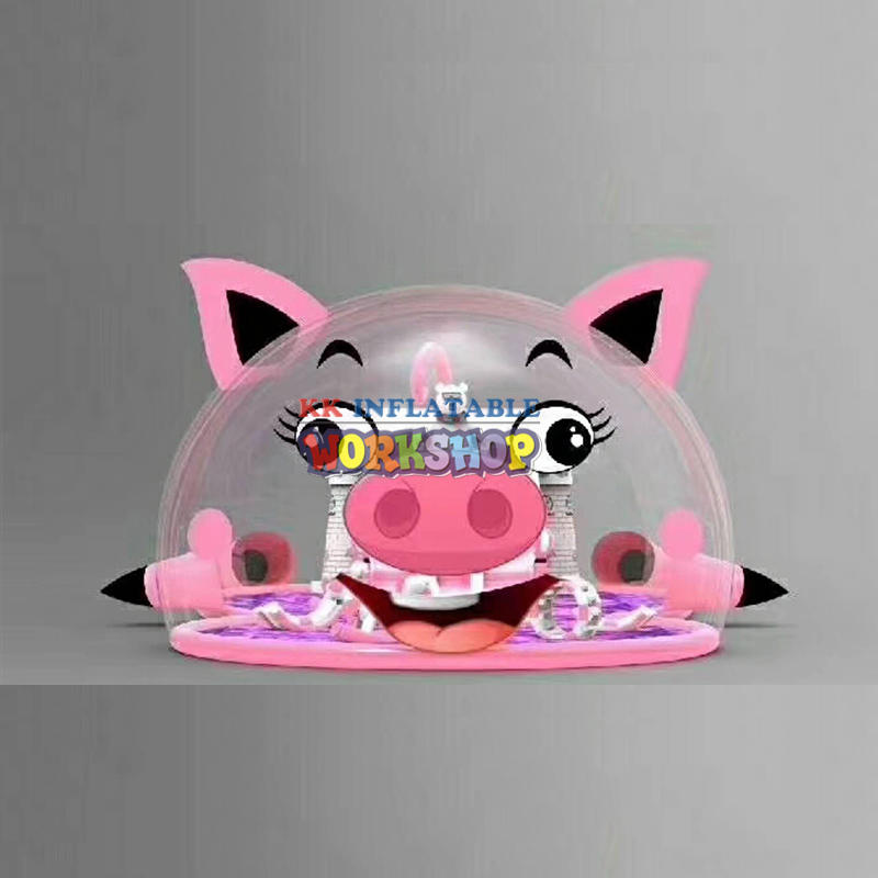giant inflatable Transparent pig bouncer