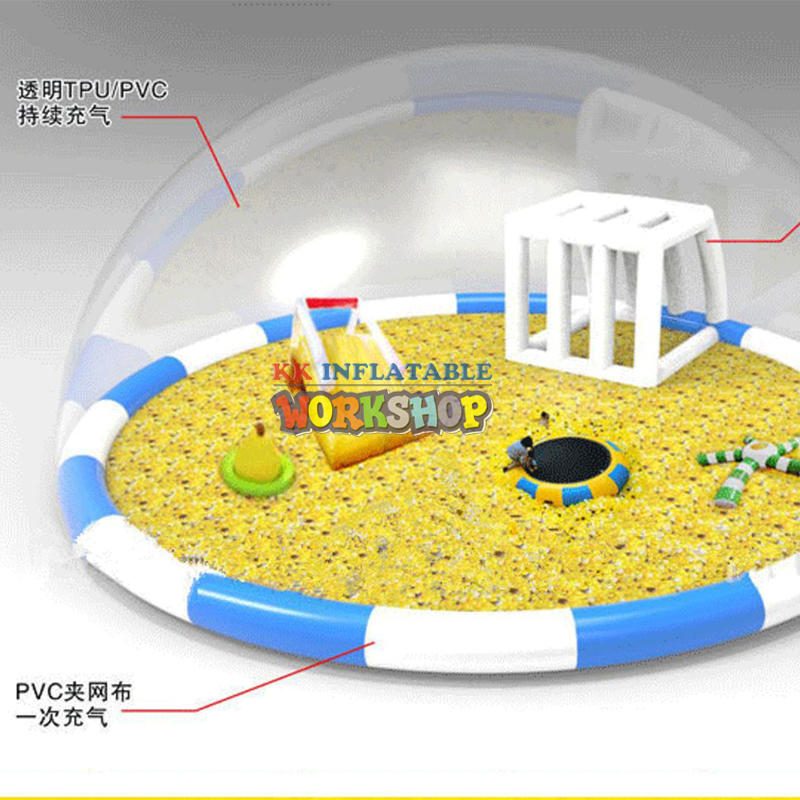 giant inflatable Transparent castle