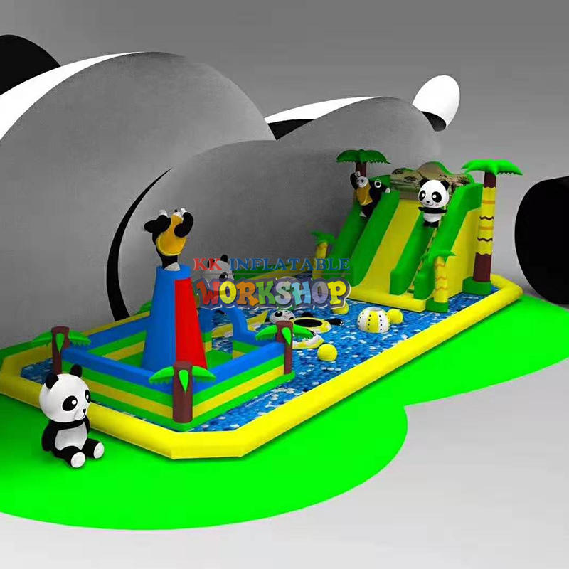 outdoor inflatable bouncer panda park