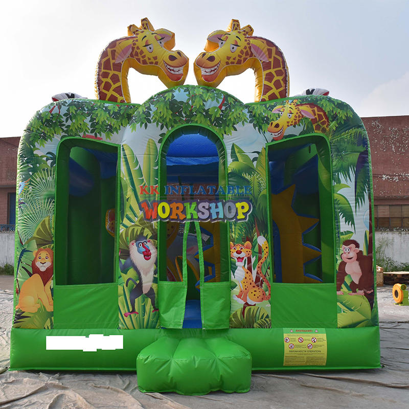 animals forest inflatable bouncy house