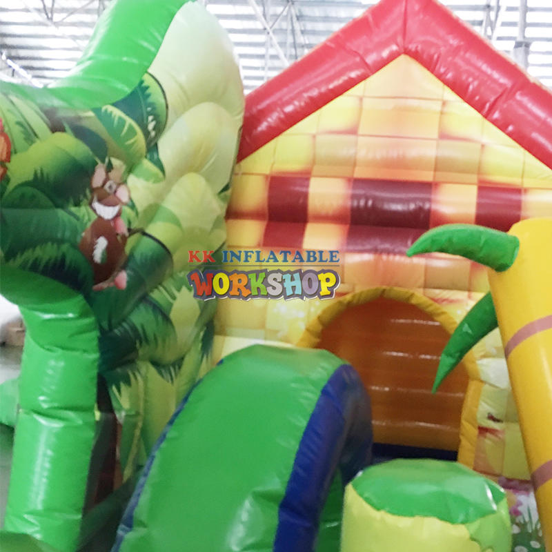 Commercial outdoor inflatable playground