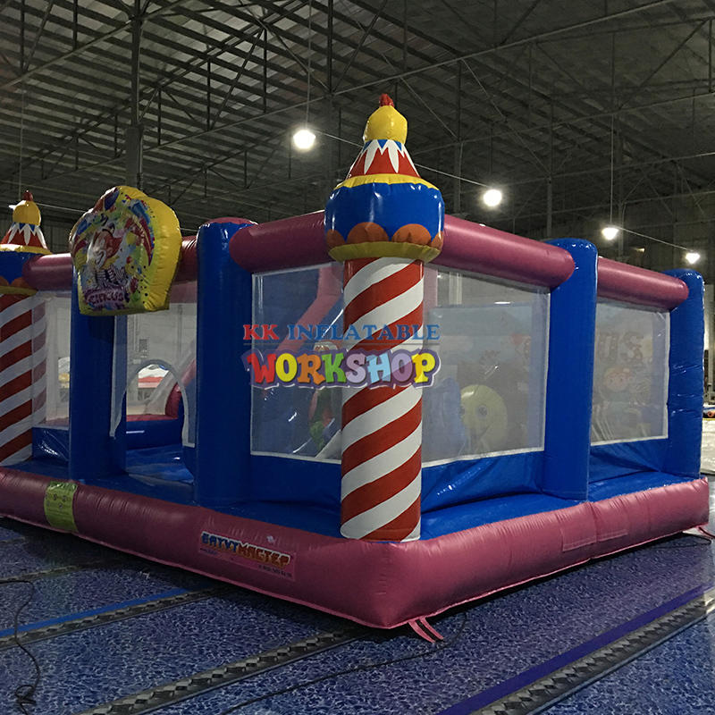 small inflatable bouncy slide castle