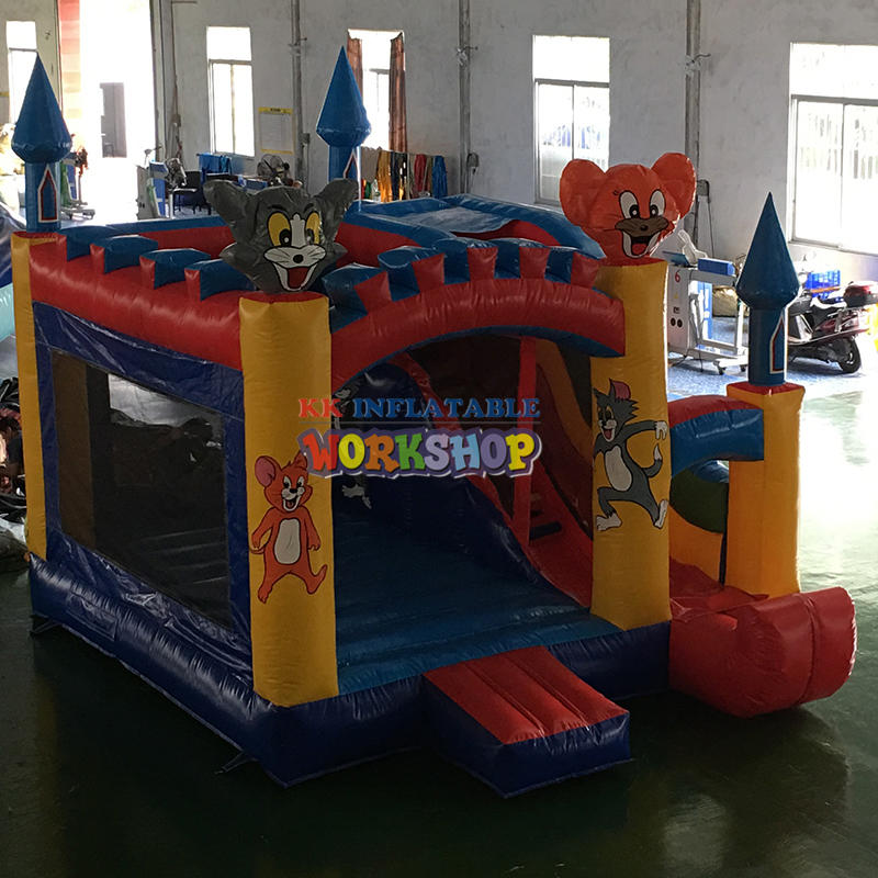 5x5m small inflatable bouncer slide